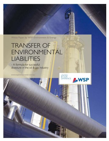 Transfer of environmental liabilities in the oil and gas sector - WSP