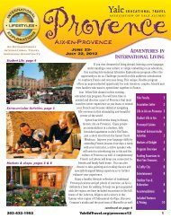 ADVENTURES IN INTERNATIONAL LIVING - Yale University