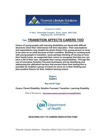 Transition Affects Carers Too Final report (pdf - 318Kb)