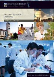 Pro Vice-Chancellor (Research) - His.admin.uwa.edu.au - The ...