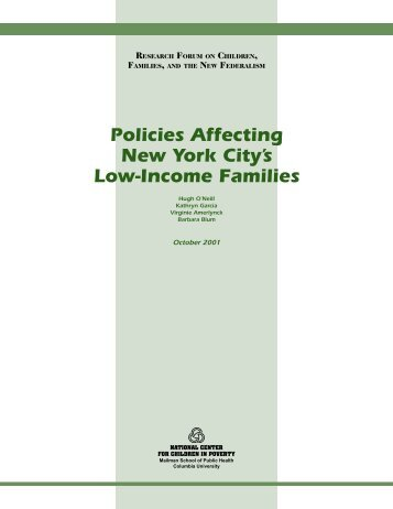 Policies Affecting New York City's Low-Income Families - Appleseed