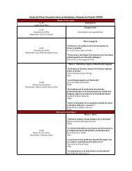 Horario del Primer Encuentro Interno de Estudiantes y Pasantes de ...