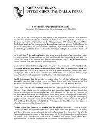 Bericht der Kreispräsidentin Ilanz - Kreis Ilanz