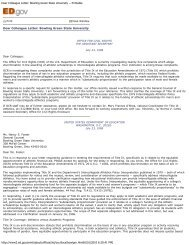 1998 letter to Bowling Green State University - National Association ...