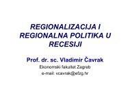 regionalizacija i regionalna politika u recesiji - Ekonomski Fakultet