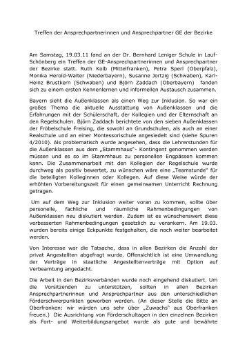 Bericht vom Treffen der Bezirksansprechpartnerinnen und
