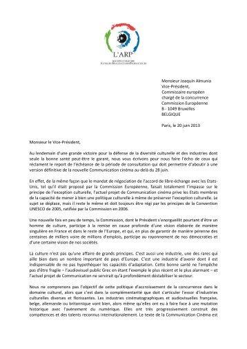Monsieur Joaquín Almunia Vice-Président, Commissaire ... - L'ARP