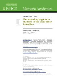The attention/support to students in the socio-labor transition ...
