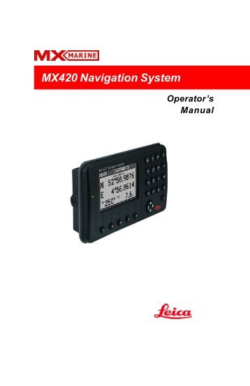 MX420 Navigation System - Polaris-as.dk