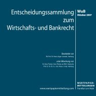 Titel WuB 10 - WM Wirtschafts- und Bankrecht