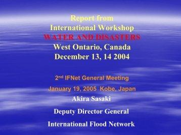 スライド 1 - International Flood Network