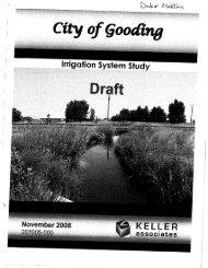 Irrigation System Study