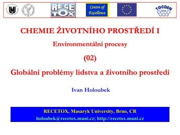 Survey of contaminated sites - Masaryk University