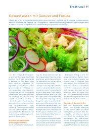 Gesund essen mit Genuss und Freude - Polarity Verband Schweiz