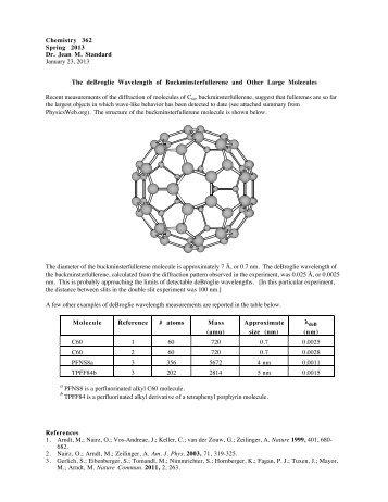 The deBroglie Wavelength of Buckminsterfullerene