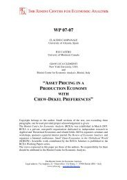 asset pricing in a production economy with chew - The Rimini ...