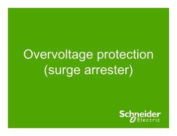 Overvoltage protection (surge arrester) - Schneider Electric