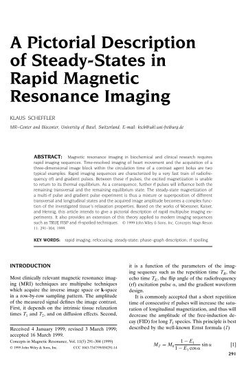 A Pictorial Description of Steady-States in Rapid Magnetic ...