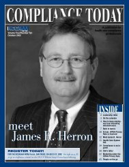 RJ - Health Care Compliance Association