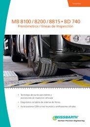 MB 8100 / 8200 / 8815 • BD 740 - Bosch Service - Perú
