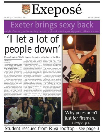 Exeter brings sexy back - Exeposé - University of Exeter