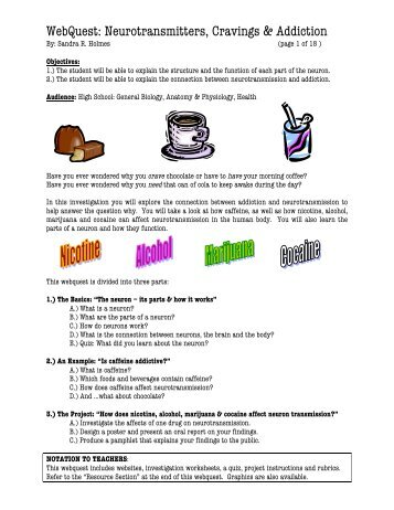 WebQuest: Neurotransmitters, Cravings & Addiction - Harvard ...