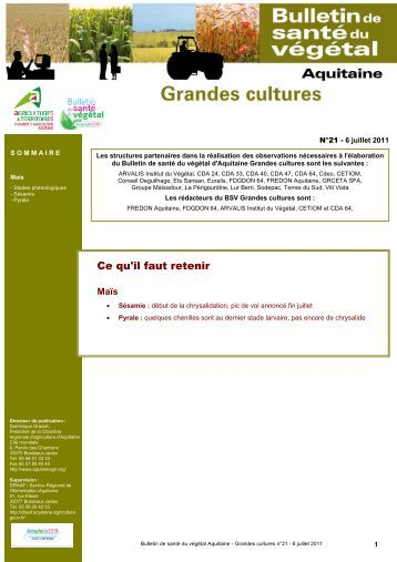 200 free magazines from aquitainagri fr for Chambre d agriculture aquitaine