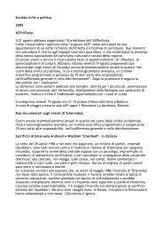 Società civile e politica 2005 ACPinFesta Il 21 agosto abbiamo ...