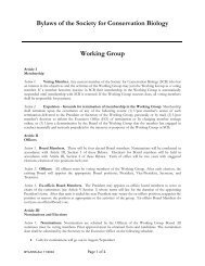 Signed Working Group Bylaws - Society for Conservation Biology
