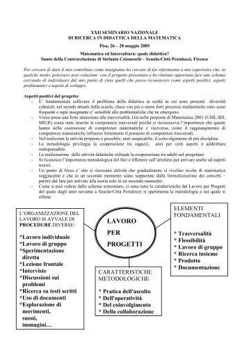 Controrelazione - Seminario Nazionale di Ricerca in Didattica della ...