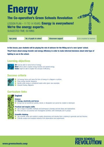 Energy Resources will get your students ... - The Co-operative