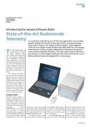 State-of-the-Art Radiosonde Telemetry - Vaisala