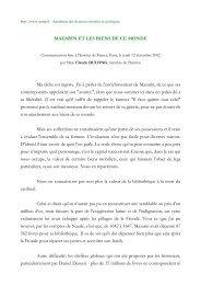 Mazarin et les biens de ce monde - Académie des sciences morales ...