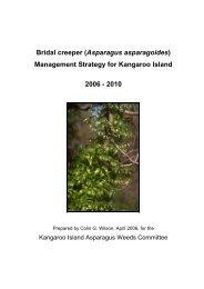 Management Strategy for Kangaroo Island 2006 - Weeds Australia