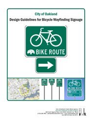 City of Oakland Design Guidelines for Bicycle Wayfinding Signage