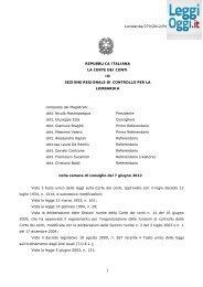 Parere Corte dei Conti Lombardia 279/2012 - LeggiOggi