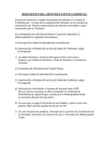 Procedimientos para la solicitud de Patente Comercial