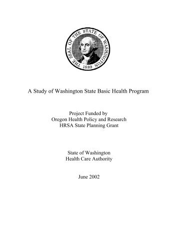 Basic Health Report for Oregon project - State Coverage Initiatives