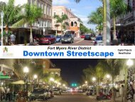 Downtown Streetscape Capital Projects - Fort Myers Business ...