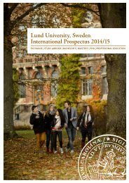 Download our 2014/15 international student ... - Lund University