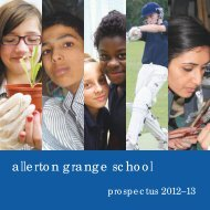 The 2012-13 prospectus - Allerton Grange High School