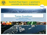 Stockholm Royal Seaport Innovation