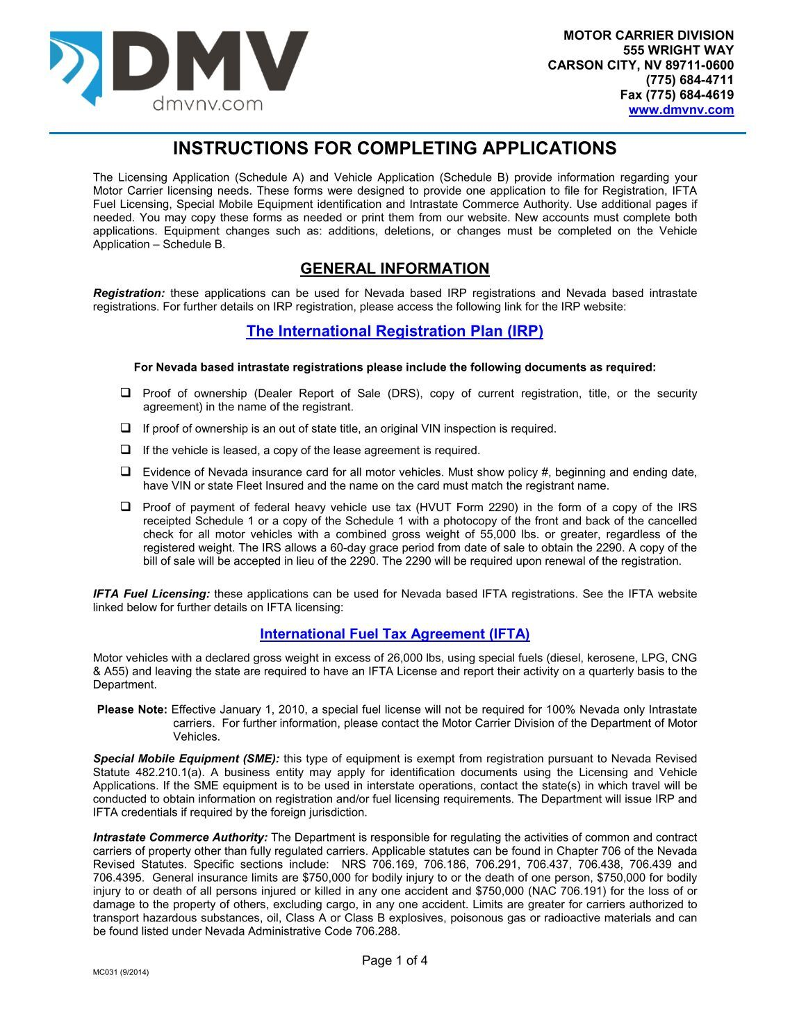 Nevada Department Of Motor Vehicles Registration Renewal