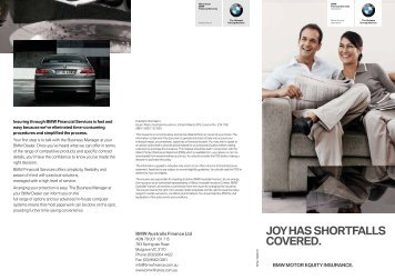 BMW Motor Equity Insurance