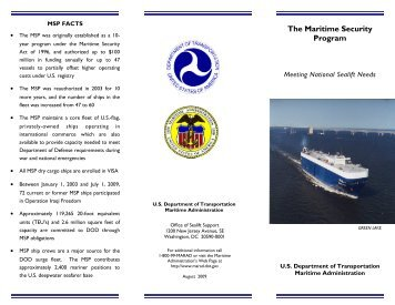 MSP Brochure August-09-GLAKE - Maritime Administration - U.S. ...