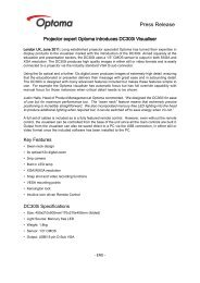 Export PDF - Optoma Europe