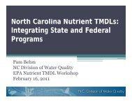 North Carolina Nutrient TMDLs: Integrating State ... - Tetratech-ffx.com