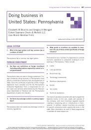 Doing business in United States: Pennsylvania - Eckert Seamans