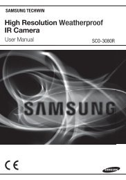 User manual (pdf) - Samsung CCTV
