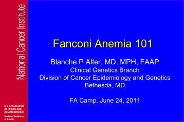 Fanconi Anemia 101
